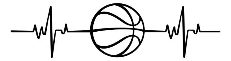 Heart Beat basket ball SVG