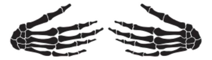 Hugging Skeleton Hands SVG